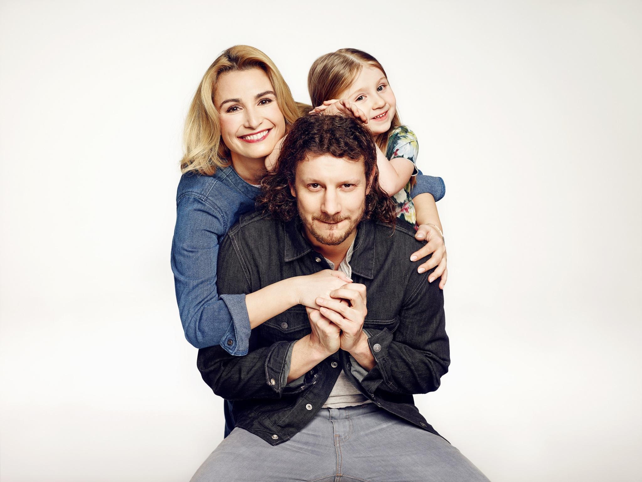 Wojciech Solarz (Rafał), Joanna Brodzik (Anka) i Zosia Dłuska (Lilka)